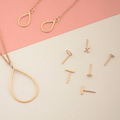 Mini Rose Gold Plated Linear Studs || Ayana Luxe, Handmade, Jewellery, Stud