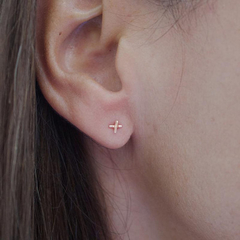Tiny Rose Gold X O Studs || Handmade, Kiss, Hug, Earrings, Fun, Love