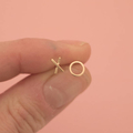 Mini Rose Gold Plated XO Studs || Ayana Luxe, Handmade, Jewellery