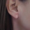 Tiny Rose Gold X O Studs || Handmade, Kiss, Hug, Earrings, Fun, Love