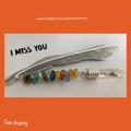 I MISS YOU - bookmark