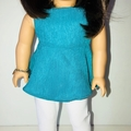 Teal Delight Top and Pants Set - 18 inch American Girl Doll Clothes Clothing