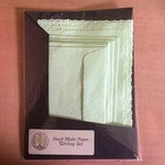 Minty Green Hand Made Paper Writing Set in Black Folio