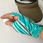 Glove: sun glove for sunprotection for golf or driving, fingerless