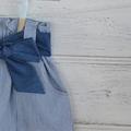 girls cotton skirt, paper bag skirt, sash skirt