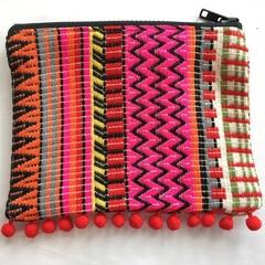 Red Tassle Aztec Clutch