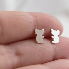 Koala Earrings Handmade Sterling Silver Koala Studs