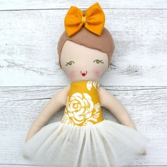 Charlie - Handmade rag doll, 38cm, fabric doll, ballerina doll.