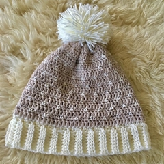 Crochet Pompom Beanie Womens - Australian Superfine Merino