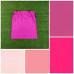Large cotton drawstring bag, pinks fuchsia for toys, library, kindergarten