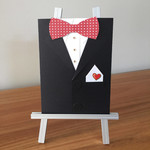 Tuxedo Card, suit card, birthday card for him, groomsman invite, will you be my