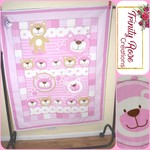 Teddy Bear in Pink Cot Quilt