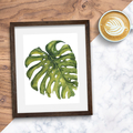Monstera Leaf Instant Download Printable Watercolour Art | A3, A4 and A5 |