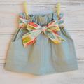 Girls elastic waist skirt, sash skirt, cotton skirt