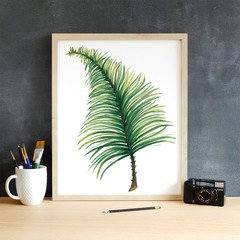 Palm Leaf Instant Download Printable Botanical Art | A3, A4 & A5 sizes
