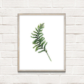 Fern Leaf Instant Download Printable Botanical Art | A3, A4 & A5 sizes