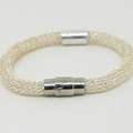 Silver Slider Tube Bracelet