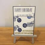 Motorbike card, motorbike birthday card, birthday card motorbike,motorcycle card