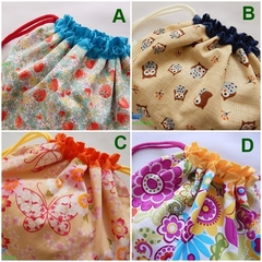 Drawstring Pouch Bag Craft Project Cosmetics