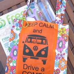 Keep Calm & Drive a Combi Tote (Orange)