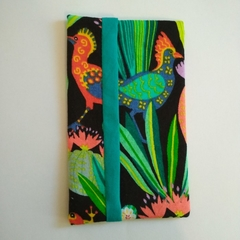 Small Tissue Holder - Cactus Bird Gekko - Bag Accessory - Practical Gift