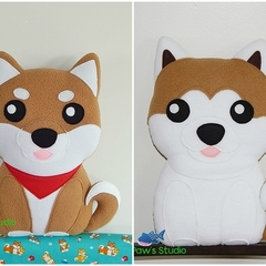 Shiba Inu Akita Inu Pillow Plush Dog Softie- Home Nursery Decor Gift