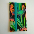 Pocket Tissue Holder - Bright Cactus Bird/Gekko - Bag Accessory - Practical Gift