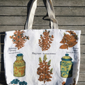 Tea Towel linen Market Tote Bag - Choose One . A Sustainable Option