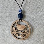Tassie Oak Wooden Bird Necklace