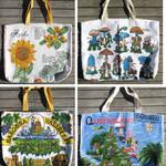 Tea Towel linen Market Tote Bag - Choose One . Rethink Reuse Recycle