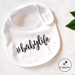 Cute #babylife Baby Bib, fun new born or baby shower gift #milkaholic available