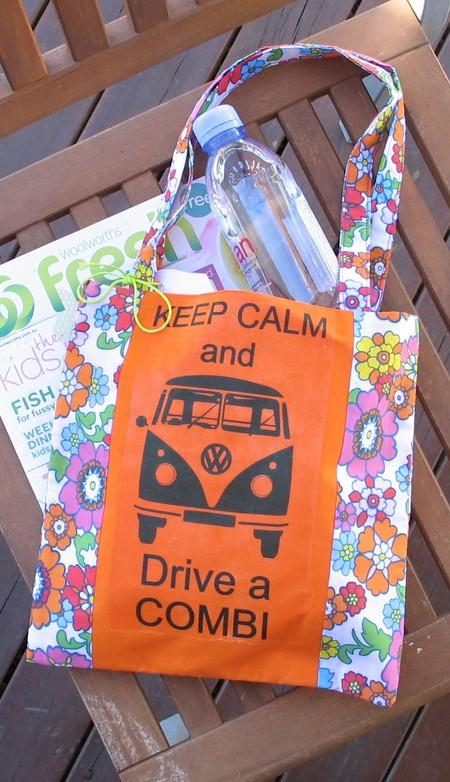 Keep Calm & Drive a Combi Tote (Orange)