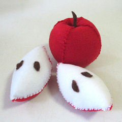 Felt Play Food Apple, Apple pin cushion