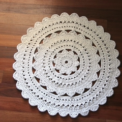 Small Crochet Floor Rug