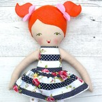 Lily - Handmade rag doll, 38cm, fabric doll, cloth doll.