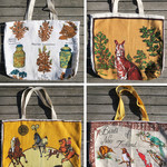 Tea Towel linen Market Tote Bag - Choose One .