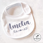 Personalised Baby Bib  new born present   shower gift   Custom Name design  