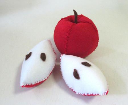 Felt Play Food Apple, Apple pin cushion
