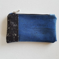 Black and Blue Cork Pouch