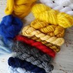 Yarn pack - weaving bundle, assorted, navy #1