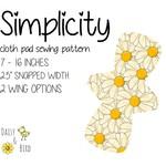 Simplicity | Reusable Cloth Menstrual Pad | PDF Sewing Pattern | Full Bundle