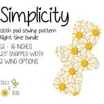 Simplicity | Reusable Cloth Menstrual Pad | PDF Sewing Pattern | Night Bundle