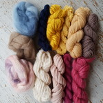 Yarn pack - weaving bundle, assorted, pink/yellow