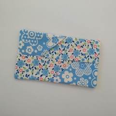 Travel Tissue Pouch - Blue/White Floral - Handbag Accessory - Practical Gift