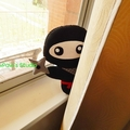 Ninja Plush / Ninja Softie / Ninja Toy / 100% Wool Felt Toy