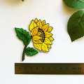Sunflower Embroidered and Iron On Patch