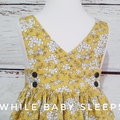 Vintage style floral pinny dress  Available sizes - 2, 4, 5 and 6