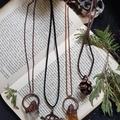 Raw Citrine Real Fern Copper Pendant Necklace | antique copper pendant, pagan wi