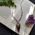 Pigeon Skull Copper Plated Pendant Amethyst Necklace | skull jewellery, gothic w