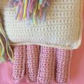 Crocheted unicorn , handmade baby soft toy. New baby gift idea.cute crocheted gi